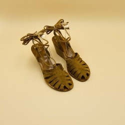 JEANNE Suede Bran Natural Leather - 41